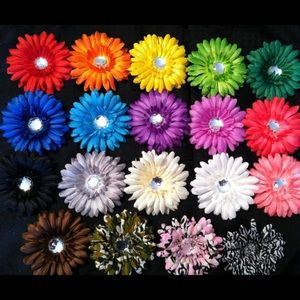 🌸New 20 Baby Girl Hair Flowers Bows Clips Kids🌸